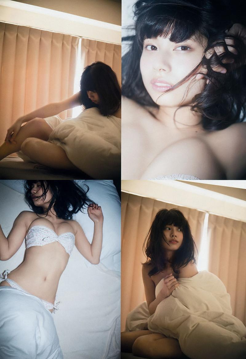【鹿目凛エロ画像】流行りのおうちグラビアで胸元が見えまくりな姿を見せちゃったw 65