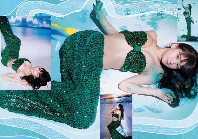 【金子理江グラビア画像】放課後ツインテールに参加した事がある美少女の水着姿 06