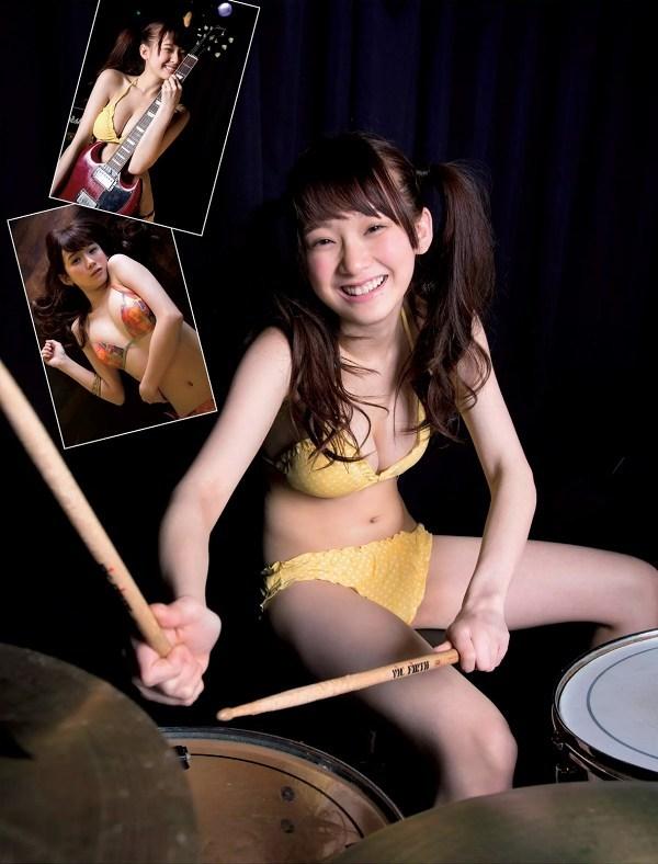 【金子理江グラビア画像】放課後ツインテールに参加した事がある美少女の水着姿 09
