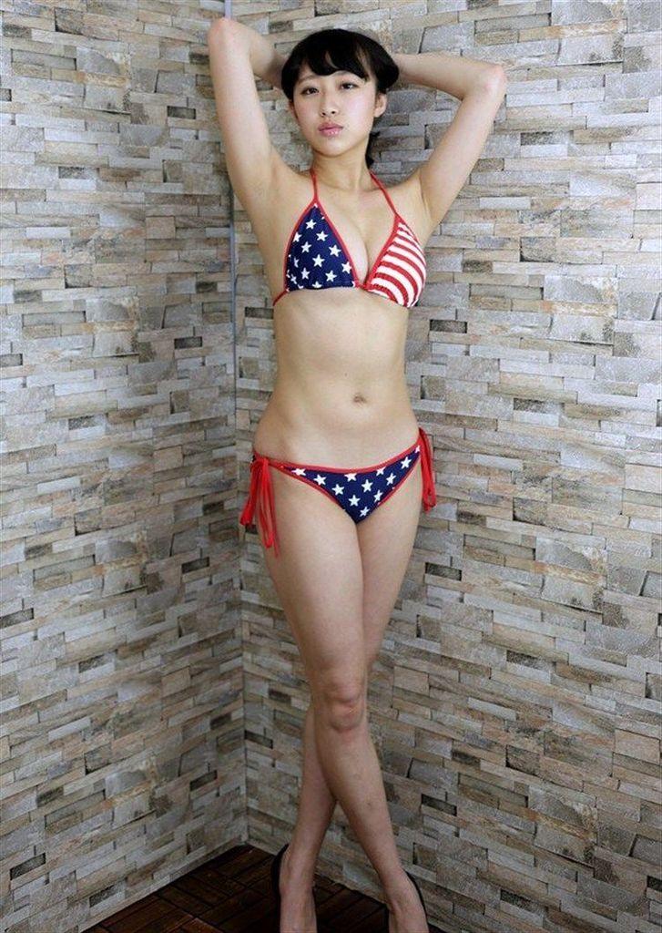 【木村涼香グラビア画像】新体操で培ったしなやかなEカップ巨乳ボディがエロい! 34