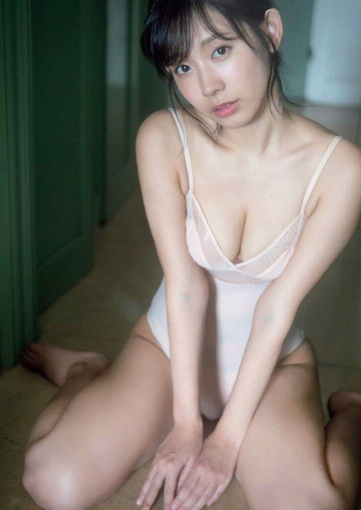 【水湊みおエロ画像】スレンダーでくびれたボディラインがめちゃシコい新人アイドル 20