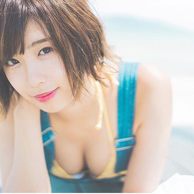 【水湊みおエロ画像】スレンダーでくびれたボディラインがめちゃシコい新人アイドル 41