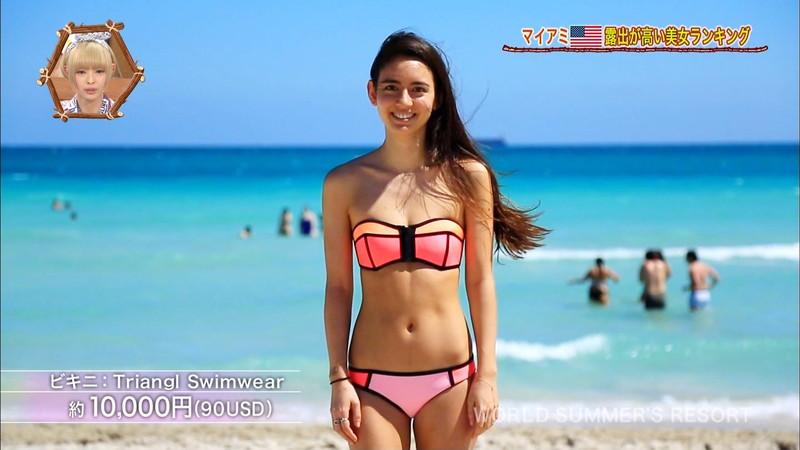 【放送事故画像】テレビ画面で堂々と外国美女のエロビキニ姿が見られる番組wwww 28