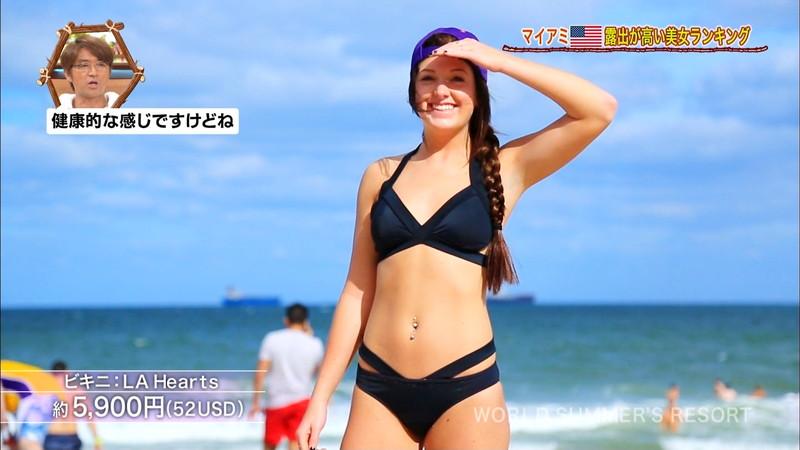 【放送事故画像】テレビ画面で堂々と外国美女のエロビキニ姿が見られる番組wwww 33