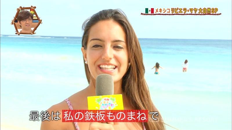 【放送事故画像】テレビ画面で堂々と外国美女のエロビキニ姿が見られる番組wwww 43