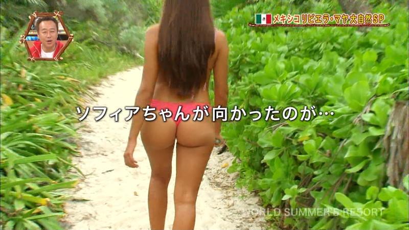 【放送事故画像】テレビ画面で堂々と外国美女のエロビキニ姿が見られる番組wwww 58