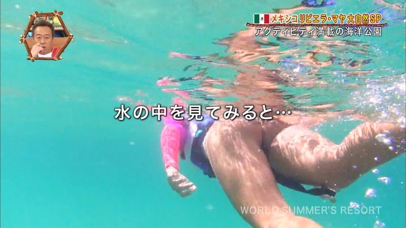 【放送事故画像】テレビ画面で堂々と外国美女のエロビキニ姿が見られる番組wwww 64