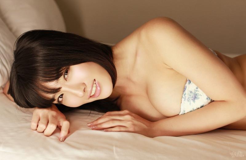 【今野杏南グラビア画像】挑発的な視線と美しいFカップボディがソソる美巨乳美女 47