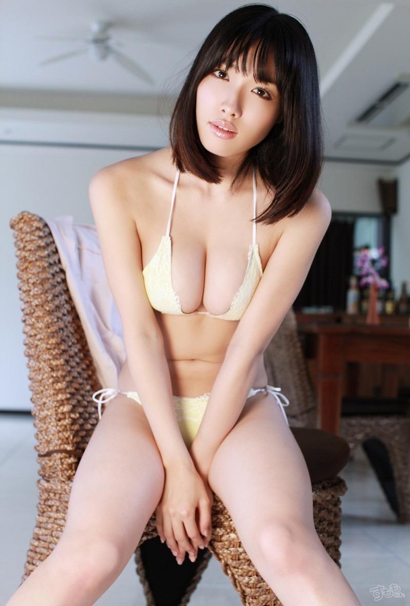 【今野杏南グラビア画像】挑発的な視線と美しいFカップボディがソソる美巨乳美女 56