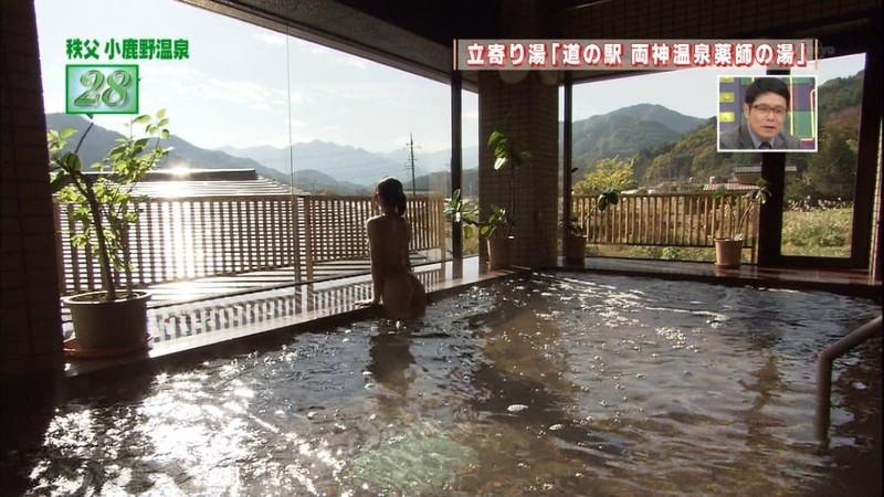 【温泉キャプ画像】地上波放送で堂々とオッパイを見せつけるエロ番組wwww 05