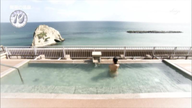 【温泉キャプ画像】地上波放送で堂々とオッパイを見せつけるエロ番組wwww 13