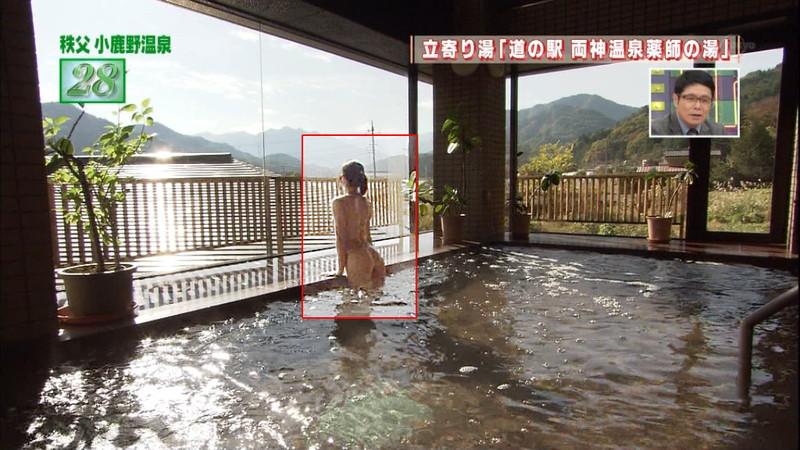 【温泉キャプ画像】地上波放送で堂々とオッパイを見せつけるエロ番組wwww 14