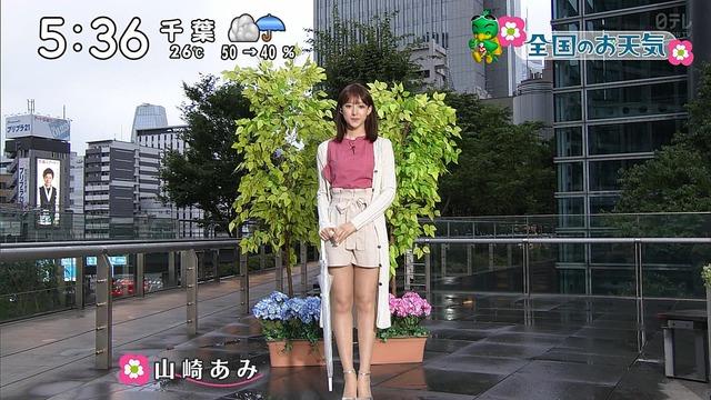 【お宝エロ画像】番組公認でたっぷり見られるお天気お姉さんのモデル美脚wwww 03