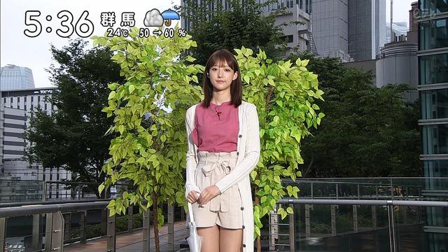 【お宝エロ画像】番組公認でたっぷり見られるお天気お姉さんのモデル美脚wwww 04