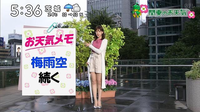 【お宝エロ画像】番組公認でたっぷり見られるお天気お姉さんのモデル美脚wwww 06