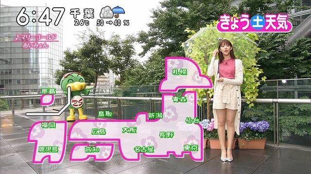 【お宝エロ画像】番組公認でたっぷり見られるお天気お姉さんのモデル美脚wwww 09