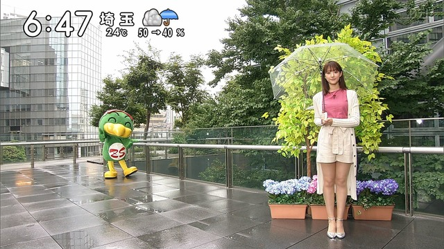 【お宝エロ画像】番組公認でたっぷり見られるお天気お姉さんのモデル美脚wwww 10