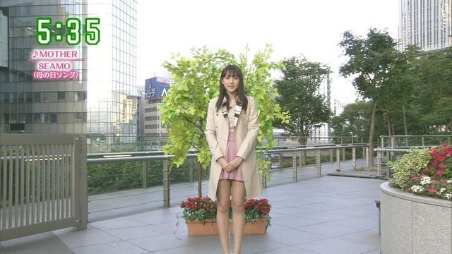 【お宝エロ画像】番組公認でたっぷり見られるお天気お姉さんのモデル美脚wwww 24