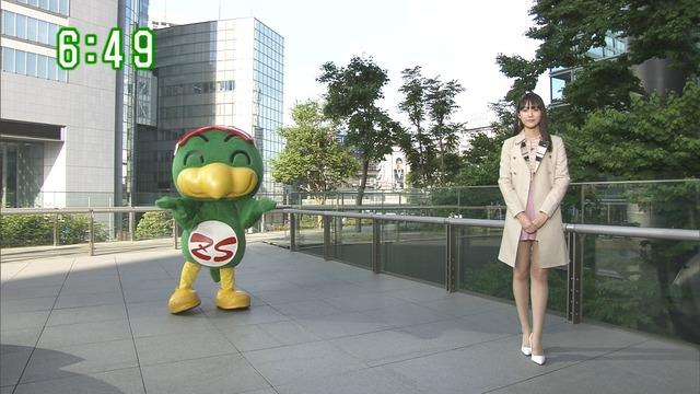 【お宝エロ画像】番組公認でたっぷり見られるお天気お姉さんのモデル美脚wwww 26