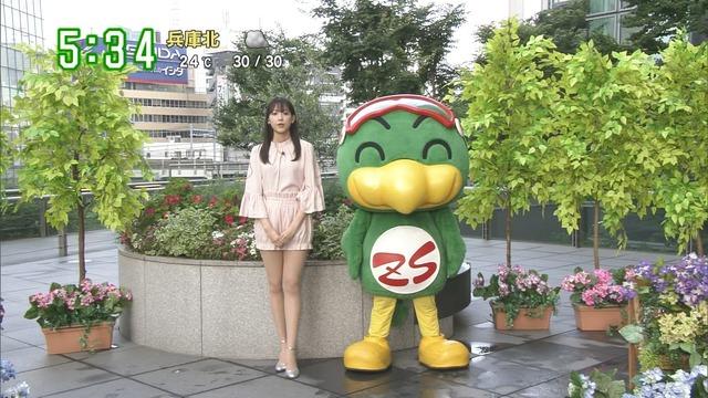 【お宝エロ画像】番組公認でたっぷり見られるお天気お姉さんのモデル美脚wwww 29