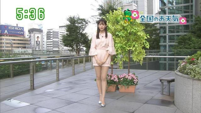 【お宝エロ画像】番組公認でたっぷり見られるお天気お姉さんのモデル美脚wwww 31