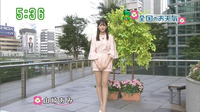 【お宝エロ画像】番組公認でたっぷり見られるお天気お姉さんのモデル美脚wwww 32