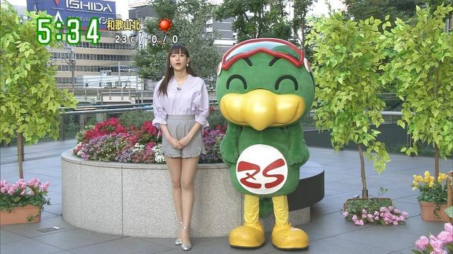 【お宝エロ画像】番組公認でたっぷり見られるお天気お姉さんのモデル美脚wwww 36