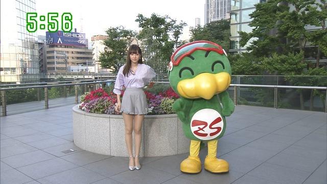 【お宝エロ画像】番組公認でたっぷり見られるお天気お姉さんのモデル美脚wwww 44