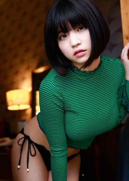【根本凪エロ画像】大きなオッパイとさらさらボブヘアがセクシーで可愛い! 14