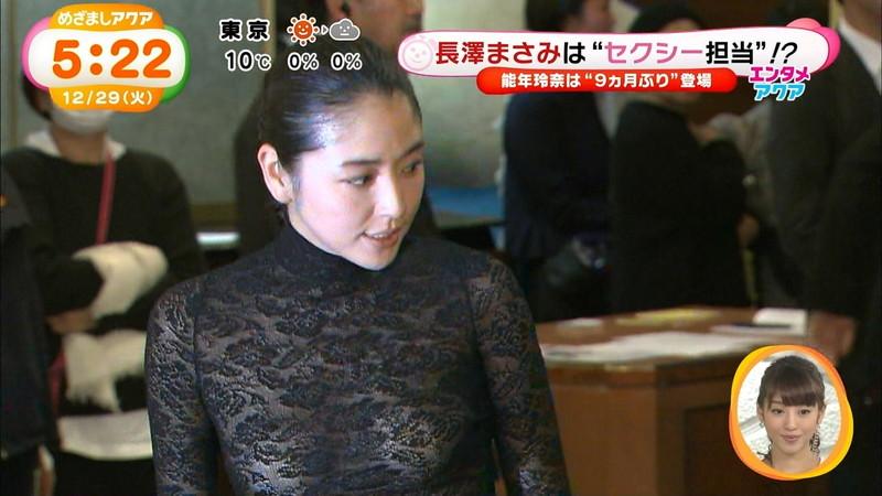 【長澤まさみお宝画像】テレビでエロくてシコれるオッパイの形を見せちゃったw 05