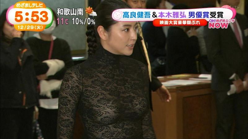 【長澤まさみお宝画像】テレビでエロくてシコれるオッパイの形を見せちゃったw 16