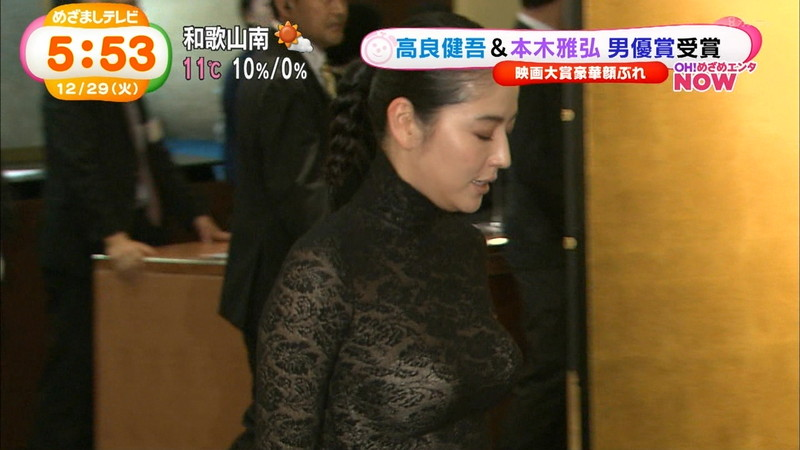 【長澤まさみお宝画像】テレビでエロくてシコれるオッパイの形を見せちゃったw 17