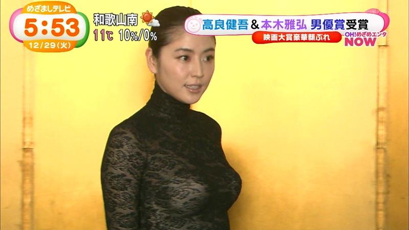 【長澤まさみお宝画像】テレビでエロくてシコれるオッパイの形を見せちゃったw 18