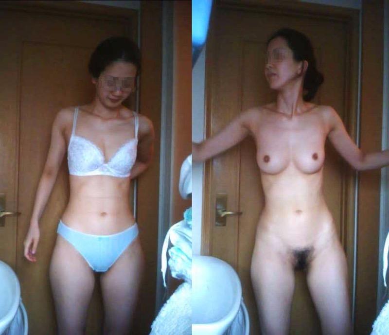 【素人試着室盗撮】隠しカメラに気付かず裸を晒してしまう素人娘たち 11