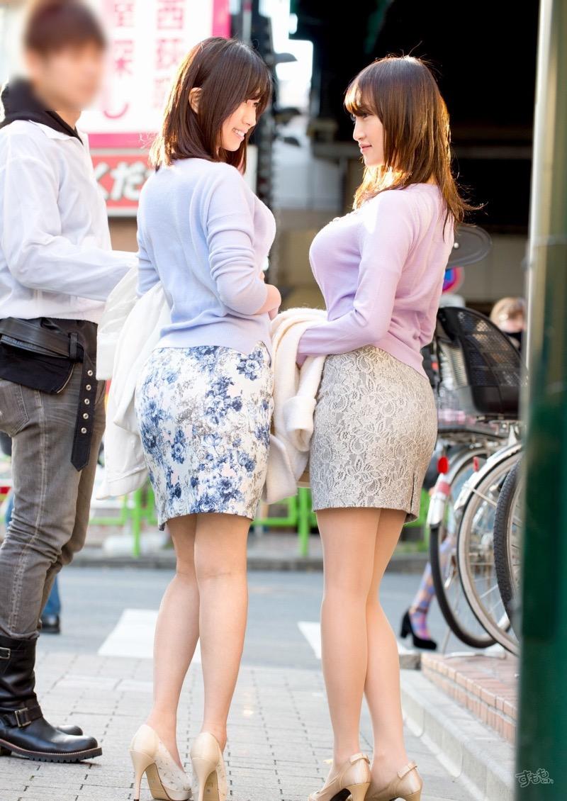 【着衣おっぱいエロ画像】服を着ていてもおっぱいラインがエロい美女! 79