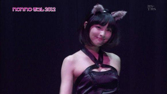 【日南響子キャプ画像】入浴シーンや猫耳コスプレそして乳首を見せてるお宝画像 16