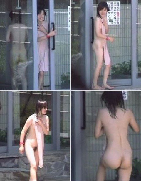 【素人温泉エロ画像】リラックスし過ぎて裸を撮られてしまった素人娘 68