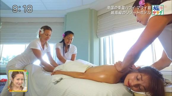【広瀬未花キャプ画像】マッサージや温泉入浴で綺麗な肌を晒したファッションモデル 46