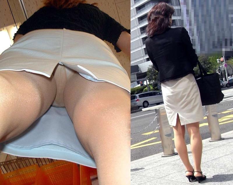 【OLパンストエロ動画】街を歩く制服OLのパンスト美脚を隠し撮り! 20