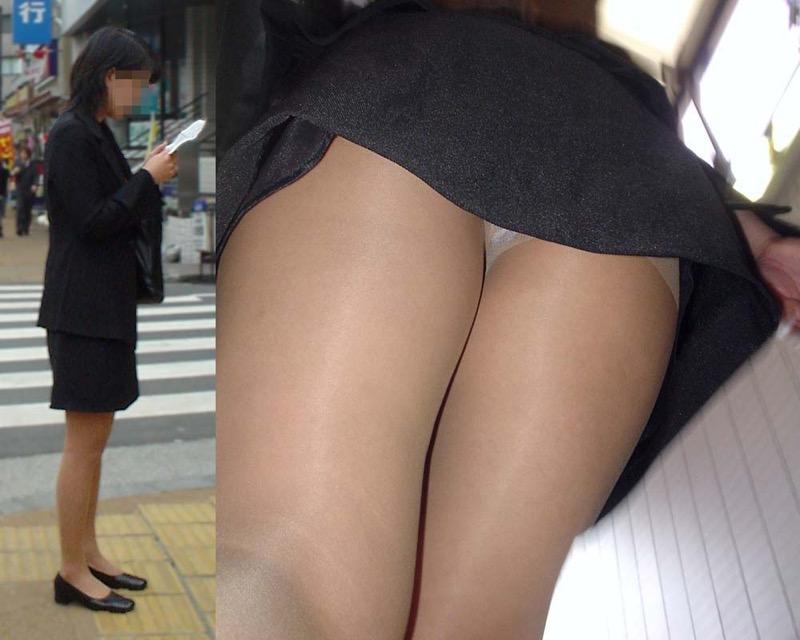 【OLパンストエロ動画】街を歩く制服OLのパンスト美脚を隠し撮り! 35