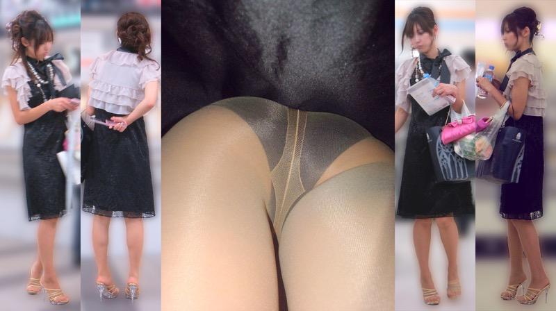 【OLパンストエロ動画】街を歩く制服OLのパンスト美脚を隠し撮り! 37