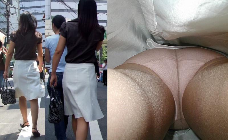 【OLパンストエロ動画】街を歩く制服OLのパンスト美脚を隠し撮り! 39