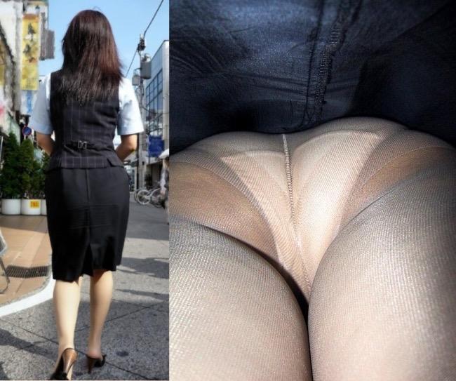 【OLパンストエロ動画】街を歩く制服OLのパンスト美脚を隠し撮り! 63