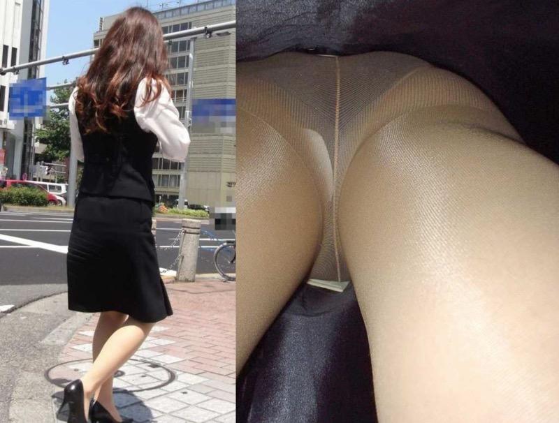 【OLパンストエロ動画】街を歩く制服OLのパンスト美脚を隠し撮り! 65