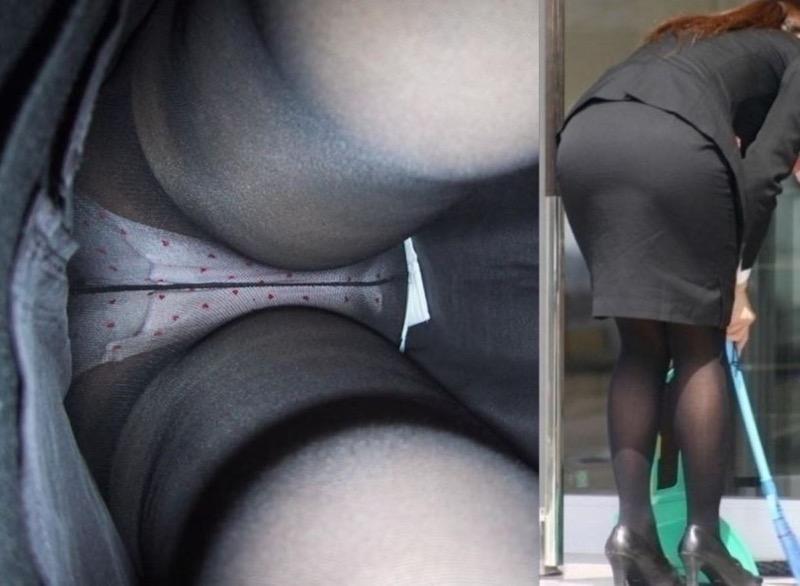 【OLパンストエロ動画】街を歩く制服OLのパンスト美脚を隠し撮り! 67