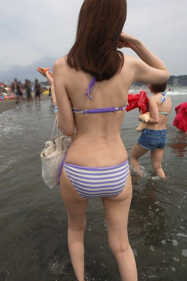 【水着盗撮画像】コロナ自粛でビキニ水着ギャルが見られないならせめてネットで見るかw 24