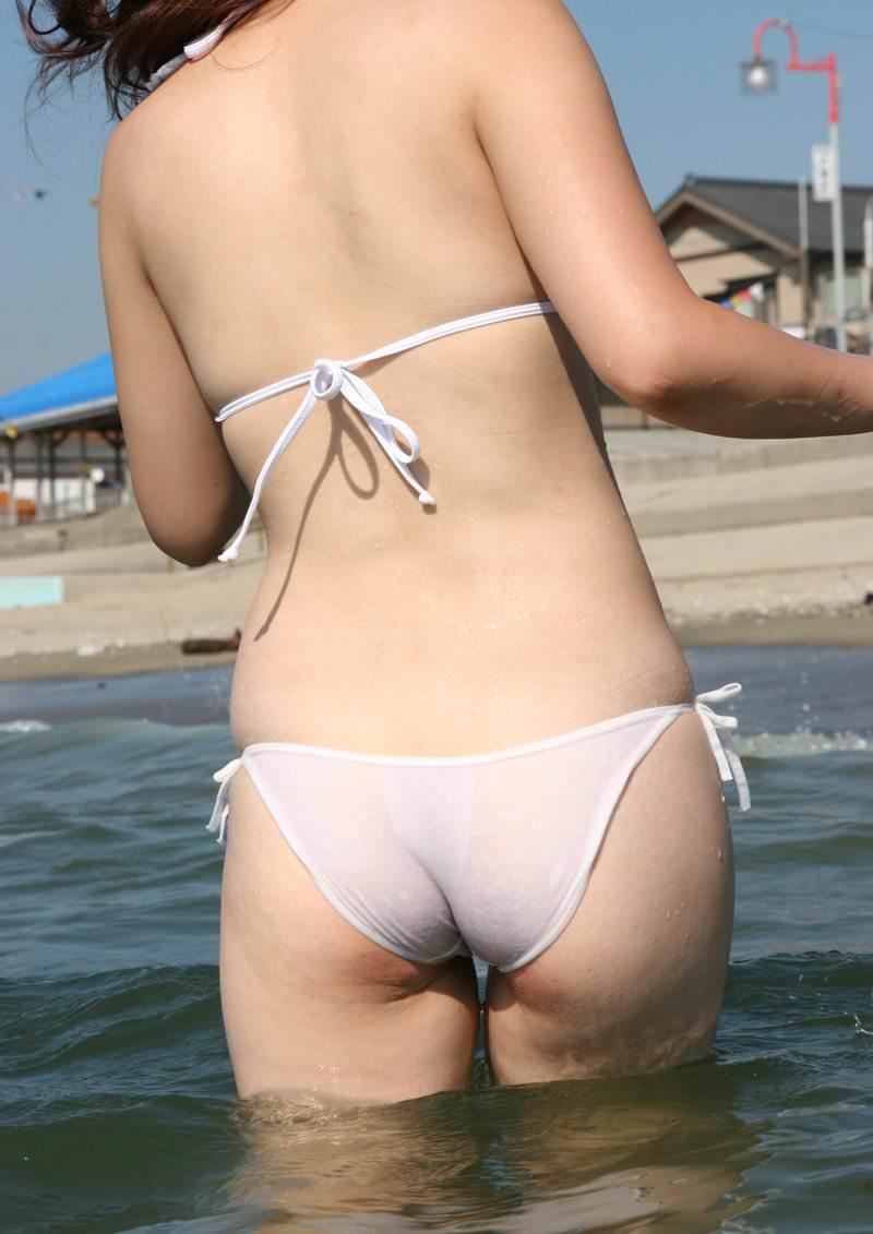 【水着盗撮画像】コロナ自粛でビキニ水着ギャルが見られないならせめてネットで見るかw 44