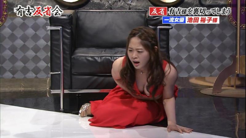 【池田裕子キャプ画像】記者会見で虫を食べるハメになった芸人気質のグラドルwwww 21