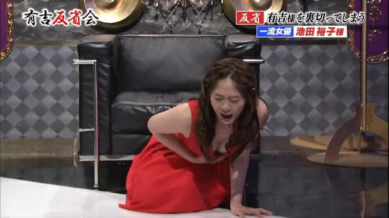 【池田裕子キャプ画像】記者会見で虫を食べるハメになった芸人気質のグラドルwwww 22