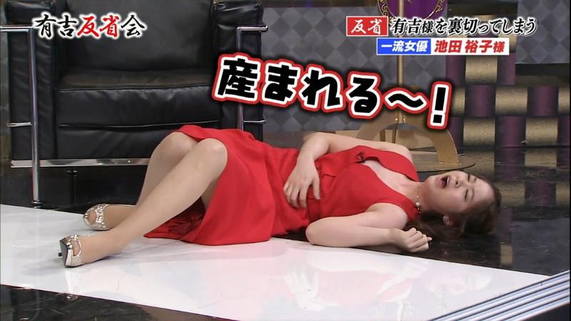 【池田裕子キャプ画像】記者会見で虫を食べるハメになった芸人気質のグラドルwwww 23